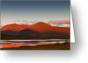 Gabor Pozsgai Greeting Cards - Sunrise at Lochan na h-Achlaise Scotland Greeting Card by Gabor Pozsgai