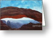 Estephy Sabin Figueroa Painting Greeting Cards - Sunrise at Mesa Arch Greeting Card by Estephy Sabin Figueroa