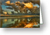 Myrtle Beach South Carolina Greeting Cards - Sunrise At Myrtle Beach II Greeting Card by Jeff Breiman