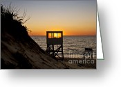 Nauset Beach Greeting Cards - Sunrise at Nauset Beach Greeting Card by John Greim