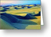 Oceano Greeting Cards - Sunrise at Oceano Sand Dunes  Greeting Card by Dominic Piperata