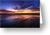New England Sunset Greeting Cards - Sunrise at Singing Beach Greeting Card by Juergen Roth