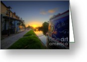 Sunset Framed Prints Greeting Cards - Sunrise At The Boat Inn Greeting Card by Yhun Suarez