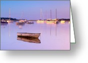 Cape Cod Mass Photo Greeting Cards - Sunrise at West Bay Osterville Cape Cod Greeting Card by Matt Suess