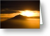 Kaiser Greeting Cards - sunrise behind Mount Teide Greeting Card by Ralf Kaiser
