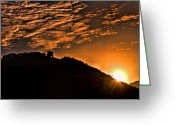 St. Lucia Photographs Greeting Cards - Sunrise Greeting Card by Bill Mortley