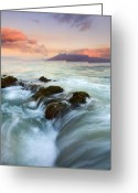Ebb Greeting Cards - Sunrise Drain Greeting Card by Mike  Dawson