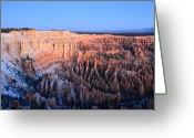 Thor Greeting Cards - Sunrise glow in Bryce Canyon Greeting Card by Pierre Leclerc
