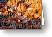 Ponderosa Greeting Cards - Sunrise Hoodoos Greeting Card by Robert Bales