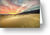 Arid Climate Greeting Cards - Sunrise In National Park Greeting Card by Neil Kremer
