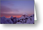 Ama Greeting Cards - Sunrise In The Nepal Himalayas Greeting Card by Pal Teravagimov Photography
