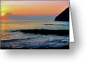 Vacation Destination Greeting Cards - Sunrise Makapuu Point Greeting Card by Thomas R Fletcher