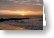 Long Beach Island Photos Greeting Cards - Sunrise Ocean 74 Greeting Card by Joyce StJames