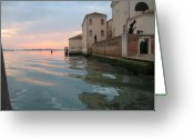 Clemente Greeting Cards - Sunrise on Isola Di San Clemente Venice Greeting Card by Harry Mason