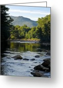 Saco River Greeting Cards - Sunrise on Mt. Jackson 2 Greeting Card by Geoffrey Bolte