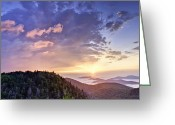 Landscape Photographs Greeting Cards - Sunrise on the Parkway Greeting Card by Rob Travis