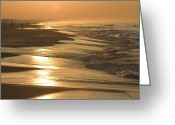 Five People Greeting Cards - Sunrise Over A Gulf Of Mexico Beach Greeting Card by Marc Moritsch