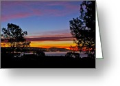 Clemente Greeting Cards - Sunrise over Capistrano Bay Greeting Card by Bob Hasbrook