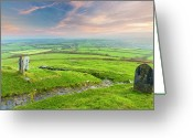 Devon Greeting Cards - Sunrise Over Dartmoor Greeting Card by Sebastian Wasek