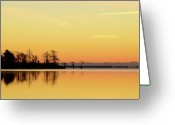 Carolina Greeting Cards - Sunrise Over Lake Greeting Card by Patti White Photography