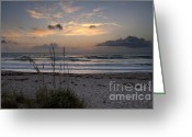 Melbourne Beach Greeting Cards - Sunrise Over Melbourne Beach Greeting Card by Cheryl Davis