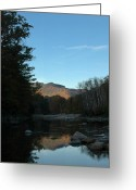 Saco River Greeting Cards - Sunrise over Mt Jackson Greeting Card by Geoffrey Bolte