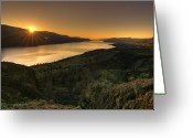 Kamloops Greeting Cards - Sunrise Over Paradise Greeting Card by Peter Olsen