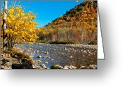 Saco River Greeting Cards - Sunrise over the Saco River Landscape Greeting Card by Geoffrey Bolte