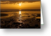 Paddles Greeting Cards - Sunrise over the sea Greeting Card by Svetlana Sewell