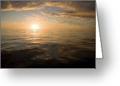 French Polynesia Greeting Cards - Sunrise Over The South Pacific Greeting Card by Tim Laman