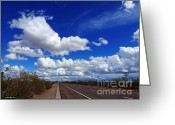 Asphalt Digital Art Greeting Cards - Sunrise Parkway Greeting Card by Methune Hively