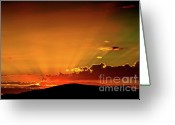 Twilight Greeting Cards - Sunrise Prescott Arizona Greeting Card by Gus McCrea