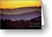 Arne J Hansen Greeting Cards - Sunrise Ridges Greeting Card by Arne Hansen