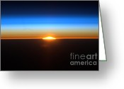 Rising From Earth Greeting Cards - Sunrise Seen From The International Greeting Card by NASA/Science Source