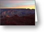 Awe Inspiring Greeting Cards - Sunrise sky at Grand Canyon Greeting Card by Pierre Leclerc
