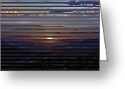 Carolina Greeting Cards - Sunrise Sunset Greeting Card by John Haldane