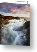Surge Greeting Cards - Sunrise Surge Greeting Card by Mike  Dawson