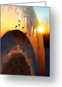 Fine_art Greeting Cards - Sunrise Thru Ice Greeting Card by Christy Patino