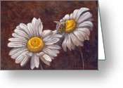 Daisies Greeting Cards - Suns Harvest Greeting Card by Jeff Brimley