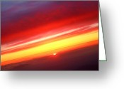 The Lightning Man Greeting Cards - Sunset Above the Clouds Greeting Card by James Bo Insogna