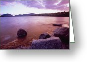 Desert Island Greeting Cards - Sunset Afterglow at Eagle Lake Greeting Card by George Oze