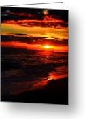 Water Scenes Greeting Cards - Sunset Appeal  Greeting Card by Emily Stauring
