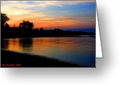 Clayton Photo Greeting Cards - Sunset at Colonial Beach Cove Greeting Card by Clayton Bruster
