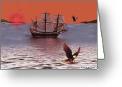 Smudgeart Greeting Cards - Sunset At Eagles Nest Greeting Card by Madeline M Allen