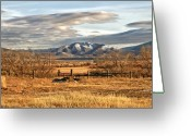 Fineart Canvas          Greeting Cards - Sunset at Elk Mountain WY Greeting Card by James Steele