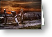Civil Greeting Cards - Sunset at Gettysburg Greeting Card by Randy Steele