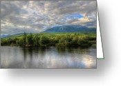 Baxter Park Greeting Cards - Sunset at Mt. Katahdin Greeting Card by Lori Deiter