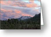 Fineart Canvas          Greeting Cards - Sunset at Rocky Mountain Park.Co Greeting Card by James Steele