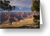Hopi Greeting Cards - Sunset at the Grand Canyons Hopi Point Greeting Card by Alex Cassels