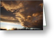 Sunset Scenes. Digital Art Greeting Cards - Sunset At The New Mexico State Capital Greeting Card by Rob Hans